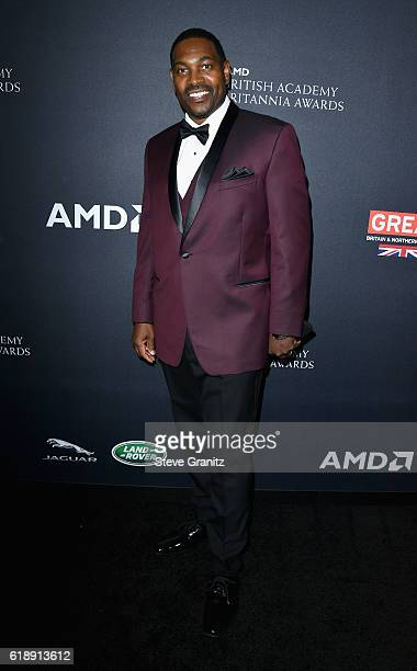 Actor Mykelti Williamson attends the 2016 AMD British Academy Britannia Awards presented by Jaguar Land Rover and American Airlines at The Beverly...