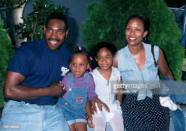 Actor Mykelti Williamson wife Sondra Spriggs and daughter Phoenix Williamson attending 'Ringling Brothers and Barnum Bailey Circus' on August 7 1997...