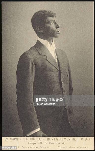 Actor N A Podgorny portrays a black man in a production of Knut Hamsun's In Life's Clutches staged by the Moscow Art Theatre   Located in Rykoff...