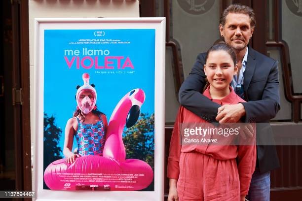 Actor Nacho Vidal and daughter Violeta Jorda present 'Me Llamo Violeta' documentary during the 22th Malaga Film Festival on March 22 2019 in Malaga...