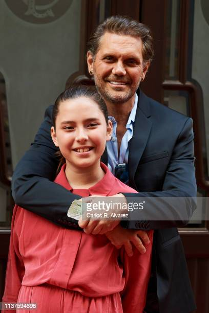 Actor Nacho Vidal and daughter Violeta Jorda present 'Me Llamo Violeta' documentary during the 22th Malaga Film Festival on March 22, 2019 in Malaga,...
