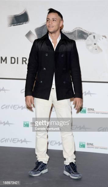 Actor Nader Sarhan attends the Ali Ha Gli Occhi Azzurri Photocall during the 7th Rome Film Festival at the Auditorium Parco Della Musica on November...