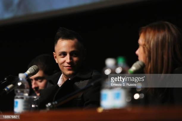 Actor Nader Sarhan attends the Ali Ha Gli Occhi Azzurri Press Conference during the 7th Rome Film Festival at the Auditorium Parco Della Musica on...