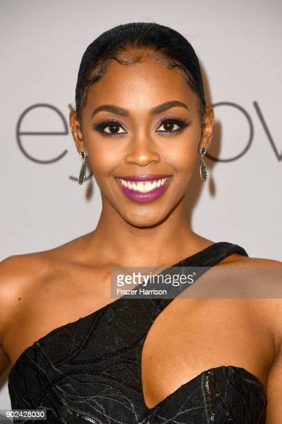 Actor Nafessa Williams attends 19th Annual PostGolden Globes Party hosted by Warner Bros Pictures and InStyle at The Beverly Hilton Hotel on January...
