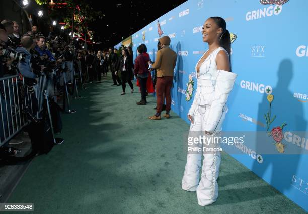 Actor Nafessa Williams attends the world premiere of 'Gringo' from Amazon Studios and STX Films at Regal LA Live Stadium 14 on March 6 2018 in Los...