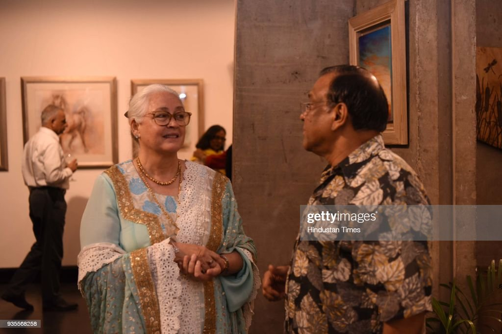 Artists Sujata Dere And Pritam Mehta Organized An Art Exhibition At Alliance Francaise
