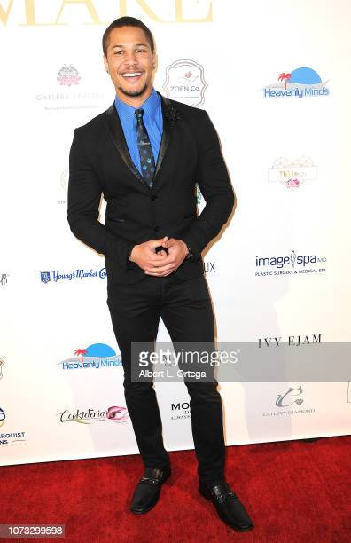 Actor Najee DeTiege attends the Amare's Second Year Anniversary 'Believe Issue' Party held at Sofitel Los Angeles At Beverly Hills on December 13...