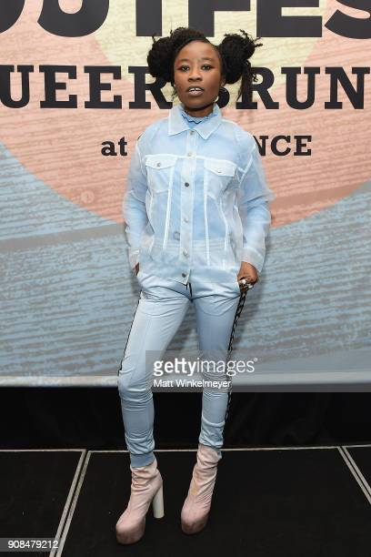 Actor Nana Ghana attends Outfest Queer Brunch at Sundance Presented By DIRECTV NOW and ATT Hello Lab during the 2018 Sundance Film Festival at Grub...
