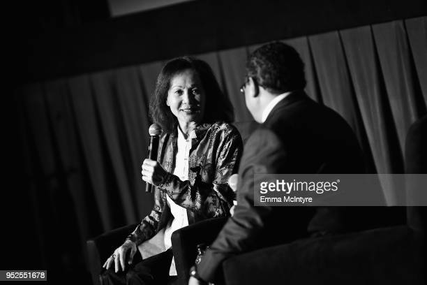 Actor Nancy Kwan and Writer Donald Bogle speak onstage at the screening of 'The World of Suzie Wong' during day 3 of the 2018 TCM Classic Film...