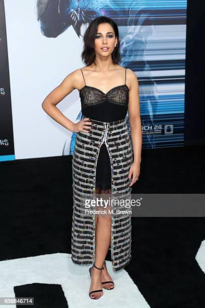 Actor Naomi Scott at the premiere of Lionsgate's 'Power Rangers' on March 22 2017 in Westwood California