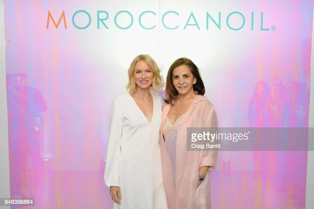 Actor Naomi Watts and Moroccanoil cofounder Carmen Tal attend the Moroccanoil Launch of Color Complete on April 18 2018 in New York City