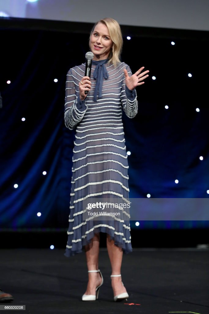 Actor Naomi Watts speaks onstage at CinemaCon 2017- Focus Features: Celebrating 15 Years and a Bright Future at Caesars Palace during CinemaCon, the official convention of the National Association of Theatre Owners, on March 29, 2017 in Las Vegas Nevada.
