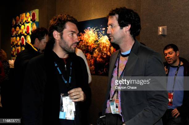 Actor Nash Edgerton and producer Trevor Groth attend The Cove After Party at the Stanfield Fine Art Gallery on January 18th 2009 in Park City Utah