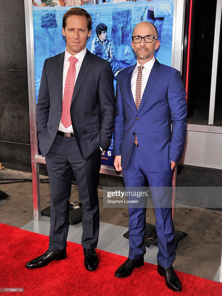 Actor Nat Faxon (L) and actor Jim Rash attend 'The Way, Way Back ' New York Premiere at AMC Loews Lincoln Square on June 26, 2013 in New York City.