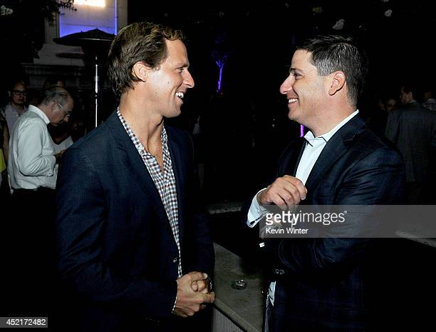 Actor Nat Faxon and Eric Schrier President Original Programming for FX Networks pose at the after party for the premiere screening's of FX Network's...