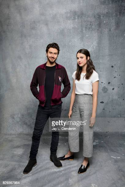 Actor Nat Wolff and actress Margaret Qualley from the film 'Death Note' are photographed in the LA Times photo studio at ComicCon 2017 in San Diego...
