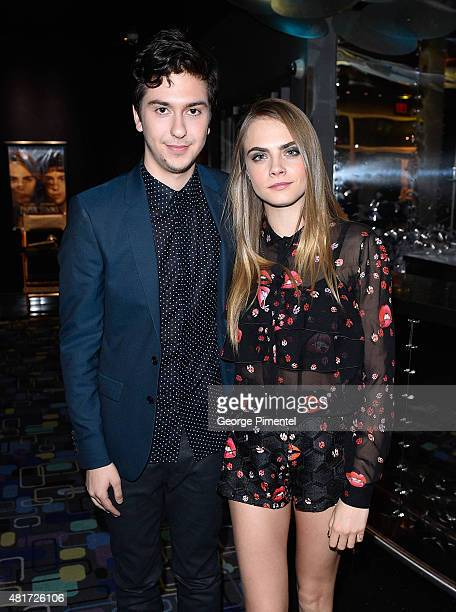 """Actor Nat Wolff and actress/model Cara Delevingne attend the Canadian Premiere Of 20th Century Fox's """"Paper Towns"""" at Scotiabank Theatre on July 23,..."""