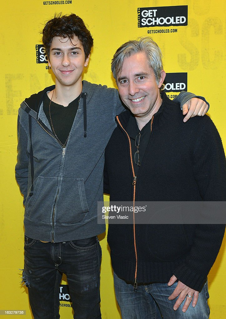 Actor Nat Wolff and director Paul Weitz attend a sneak peek preview screening of 'Admission' at Vilidus Prep on March 6, 2013 in the Bronx borough of New York City.
