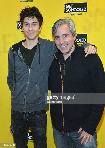 Actor Nat Wolff and director Paul Weitz attend a sneak peek preview screening of 'Admission' at Vilidus Prep on March 6 2013 in the Bronx borough of...