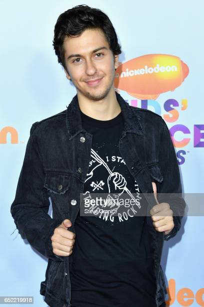 Actor Nat Wolff at Nickelodeon's 2017 Kids' Choice Awards at USC Galen Center on March 11 2017 in Los Angeles California