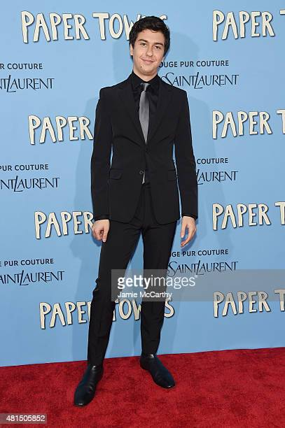 Actor Nat Wolff attends the New York premiere of Paper Towns at AMC Loews Lincoln Square on July 21 2015 in New York City