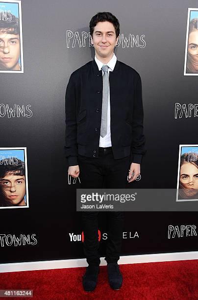 Actor Nat Wolff attends the Paper Towns QA and live concert at YouTube Space LA on July 17 2015 in Los Angeles California