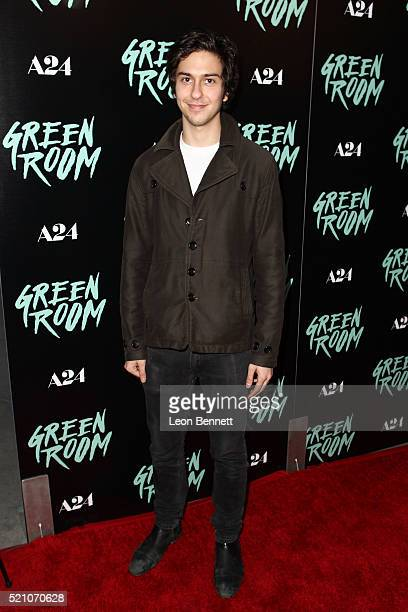Actor Nat Wolff attends the premiere of A24's 'Green Room' at ArcLight Hollywood on April 13 2016 in Hollywood California