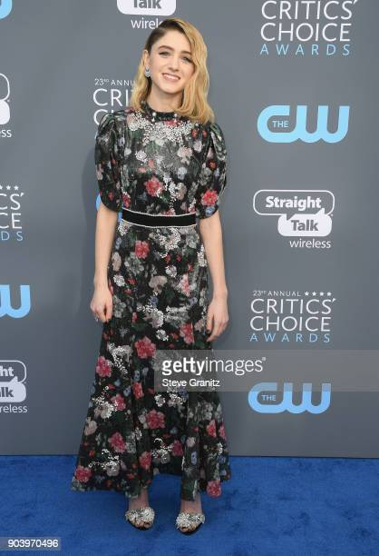 Actor Natalia Dyer attends The 23rd Annual Critics' Choice Awards at Barker Hangar on January 11 2018 in Santa Monica California