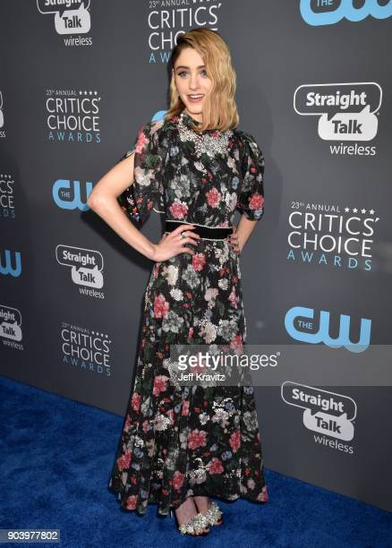 Actor Natalia Dyer attends The 23rd Annual Critics' Choice Awards at Barker Hangar on January 11 2018 in Santa Monica California
