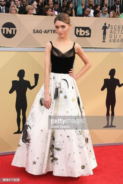 Actor Natalia Dyer attends the 24th Annual Screen Actors Guild Awards at The Shrine Auditorium on January 21 2018 in Los Angeles California