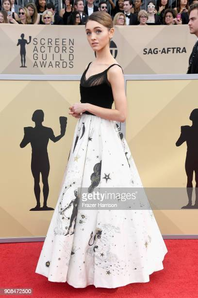 Actor Natalia Dyer attends the 24th Annual Screen ActorsGuild Awards at The Shrine Auditorium on January 21 2018 in Los Angeles California