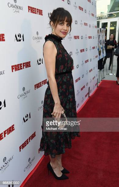 Actor Natalie Morales attends The Los Angeles Premiere Of 'Free Fire' Presented By Casa Noble Tequila on April 13 2017 in Los Angeles California