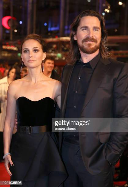 US actor Natalie Portman and British actor Christian Bale arrive to the premiere of 'Knight of Cups' at the 65th International Film Festival...