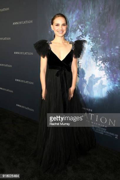 Actor Natalie Portman attends the Los Angeles Premiere of 'Annihilaton' at Regency Village Theatre on February 13 2018 in Westwood California