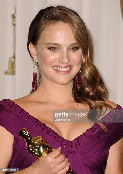 Actor Natalie Portman poses in the press room during the 83rd Annual Academy Awards held at the Kodak Theatre on February 27 2011 in Los Angeles...