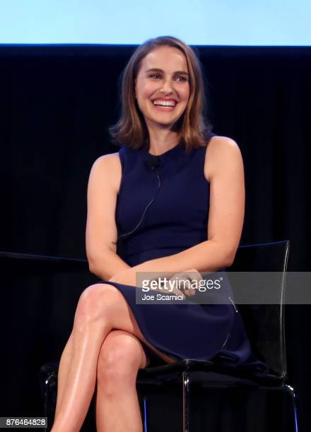 Actor Natalie Portman speaks onstage during Vulture Festival LA presented by ATT at Hollywood Roosevelt Hotel on November 19 2017 in Hollywood...