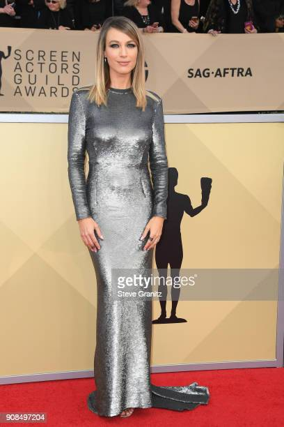 Actor Natalie Zea attends the 24th Annual Screen Actors Guild Awards at The Shrine Auditorium on January 21 2018 in Los Angeles California
