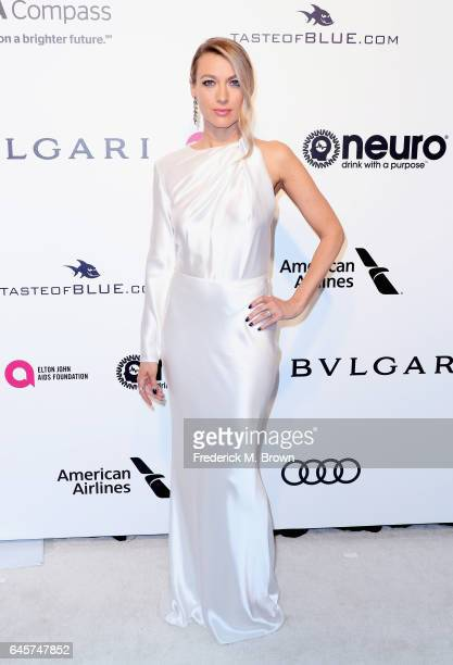 Actor Natalie Zea attends the 25th Annual Elton John AIDS Foundation's Academy Awards Viewing Party at The City of West Hollywood Park on February 26...