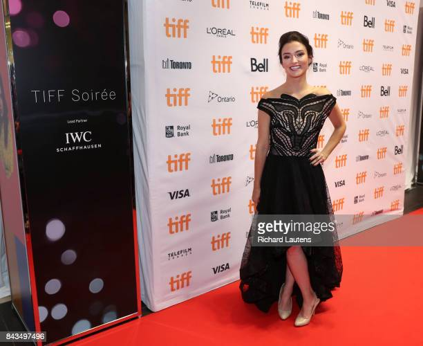 TORONTO ON SEPTEMBER 6 Actor Natasha Negovanlis Soiree is a fundraising event at the TIFF Bell Lightbox Stars and dignitaries were on hand to walk...