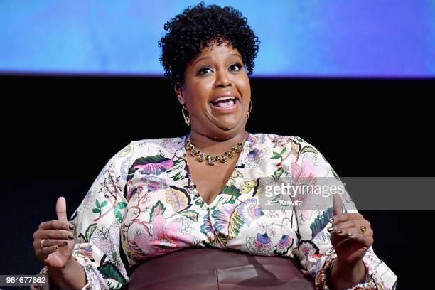 Actor Natasha Rothwell speaks onstage at Insecure FYC at Television Academy on May 31 2018 in Los Angeles California