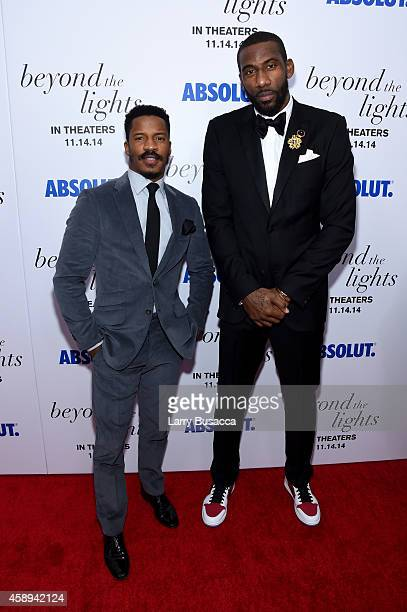 Actor Nate Parker and basketball player Amar'e Stoudemire attend The New York Premiere Of Relativity Media's Beyond the Lights at Regal Union Square...