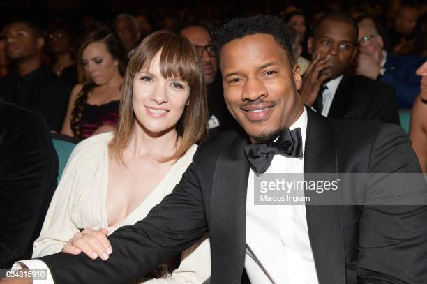 Actor Nate Parker and Sarah DiSanto attend the 48th NAACP Image Awards at Pasadena Civic Auditorium on February 11 2017 in Pasadena California