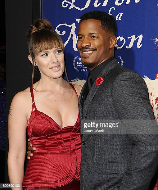 Actor Nate Parker and wife Sarah DiSanto attend the premiere of The Birth of a Nation at ArcLight Cinemas Cinerama Dome on September 21 2016 in...