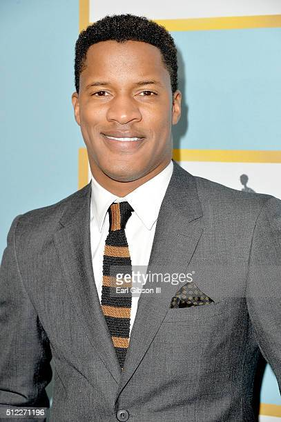 Actor Nate Parker attends the 2016 ESSENCE Black Women In Hollywood awards luncheon at the Beverly Wilshire Four Seasons Hotel on February 25 2016 in...