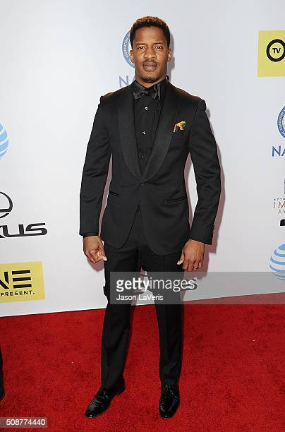 Actor Nate Parker attends the 47th NAACP Image Awards at Pasadena Civic Auditorium on February 5 2016 in Pasadena California