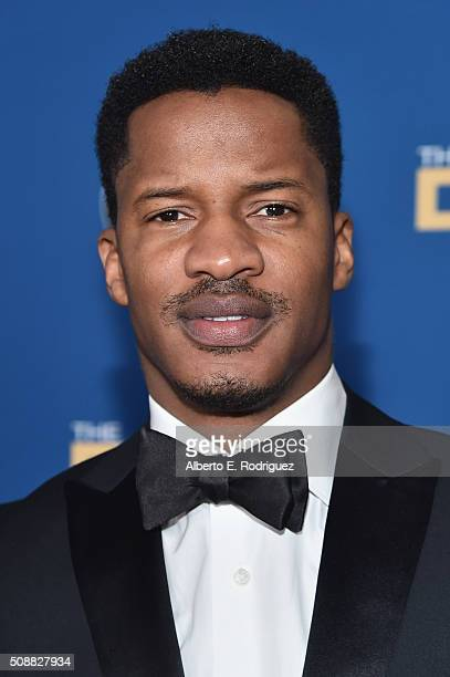 Actor Nate Parker attends the 68th Annual Directors Guild Of America Awards at the Hyatt Regency Century Plaza on February 6 2016 in Los Angeles...