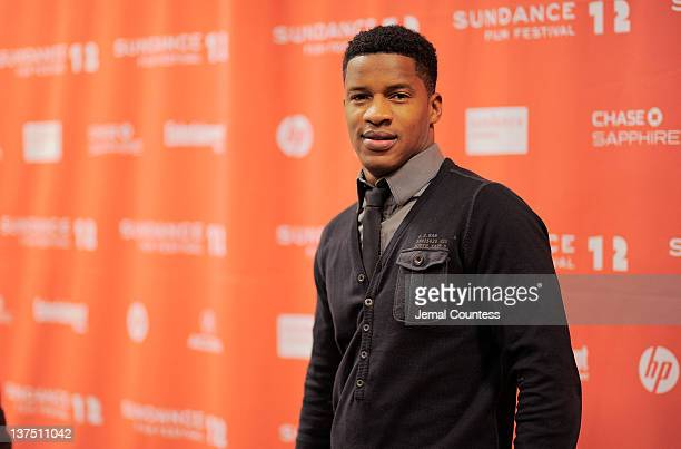 Actor Nate Parker attends the Arbitrage Premiere at the Eccles Center Theatre during the 2012 Sundance Film Festival on January 21 2012 in Park City...