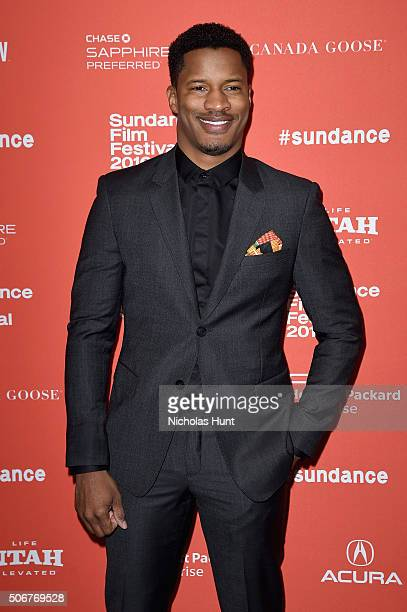 Actor Nate Parker attends The Birth Of A Nation premiere during the 2016 Sundance Film Festival at Eccles Center Theatre on January 25 2016 in Park...