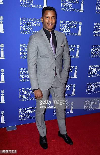Actor Nate Parker attends the Hollywood Foreign Press Association's Grants Banquet at the Beverly Wilshire Four Seasons Hotel on August 4 2016 in...
