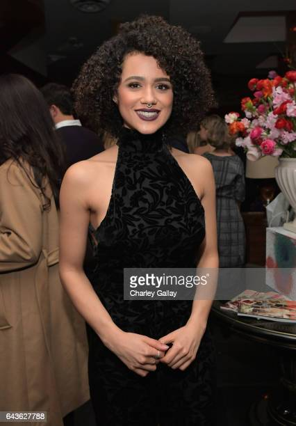 Actor Nathalie Emmanuel attends Vanity Fair and L'Oreal Paris Toast to Young Hollywood hosted by Dakota Johnson and Krista Smith at Delilah on...
